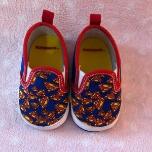 Other - Superman baby slip ons
